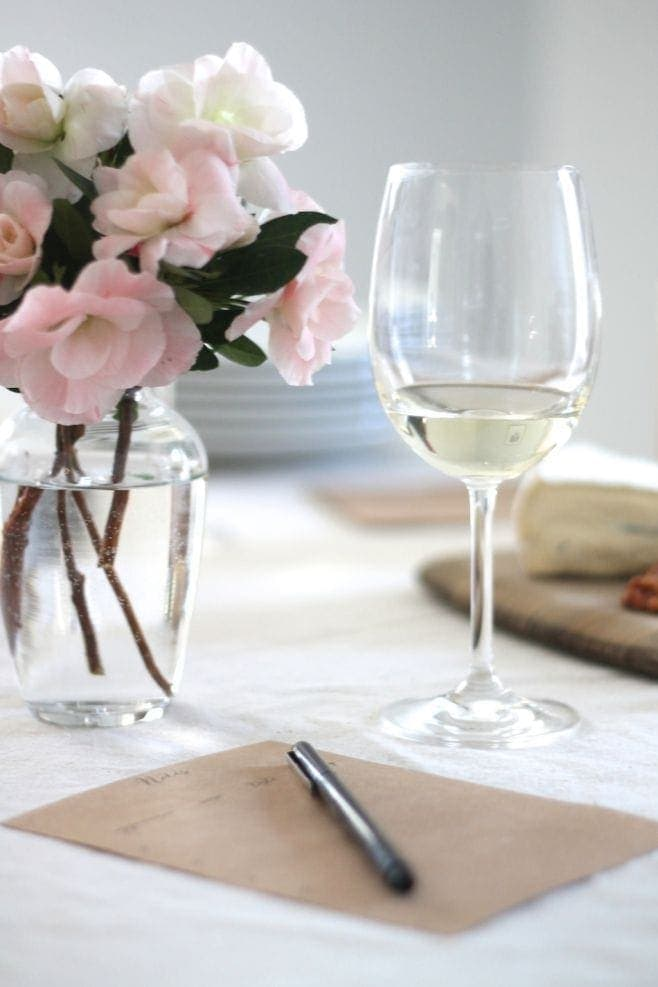How to host a wine tasting party, including free printables via julieblanner.com