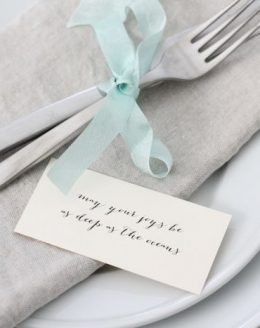 An inspired St. Patrick's Day dinner party | Irish Blessing place settings