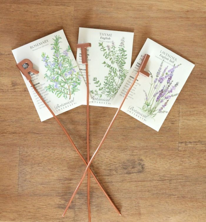 DIY Garden Markers Julie Blanner entertaining home design that