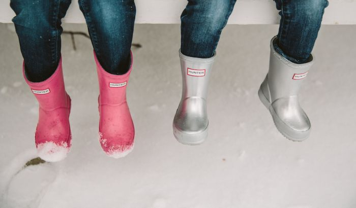 kids hunter wellies |first rain boots