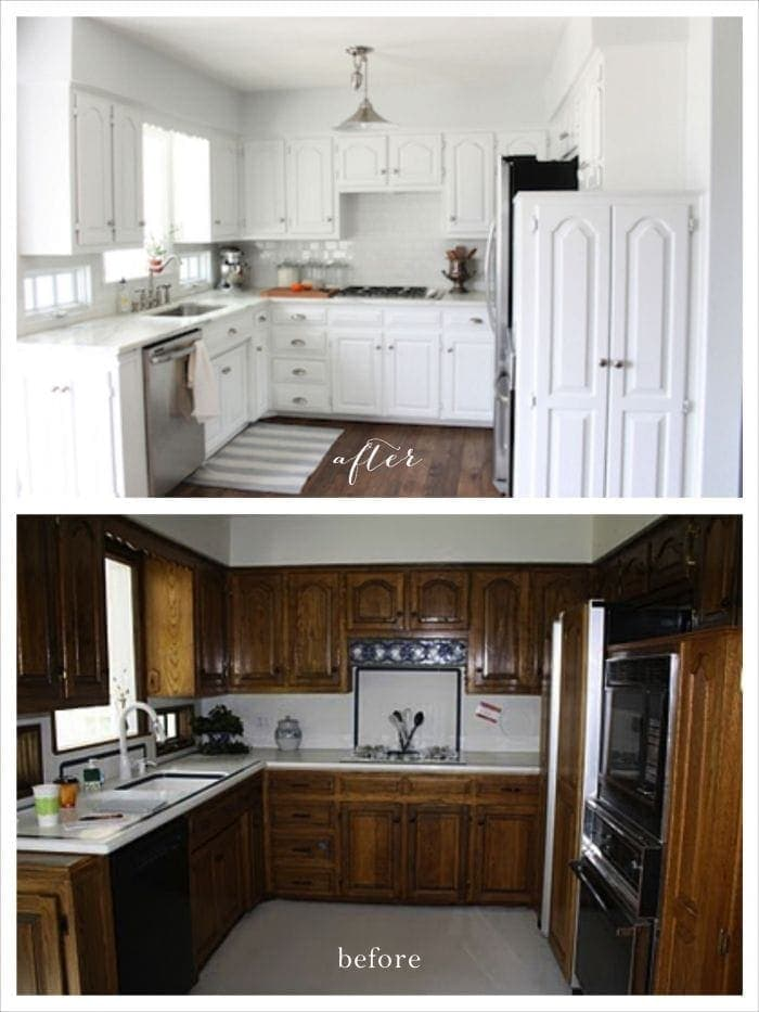 A classic kitchen - before & after.