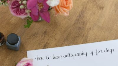 Learn the basics of calligraphy, including supplies needed & how to get started
