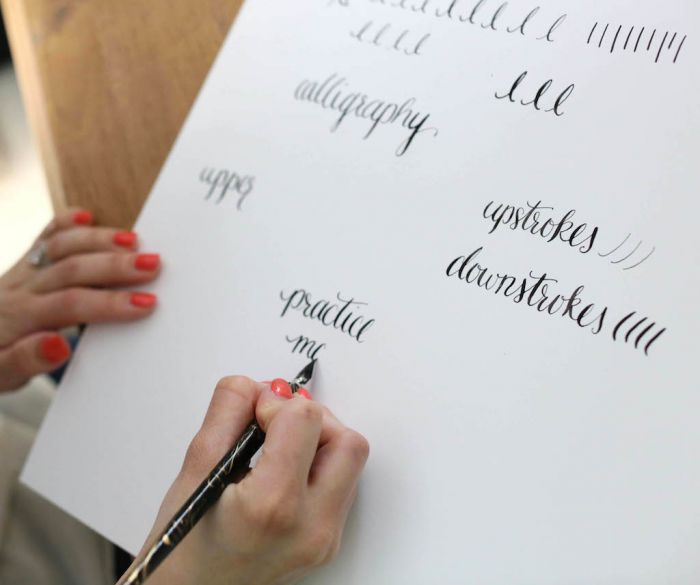Learn calligraphy practice words Pinterest calligraphy