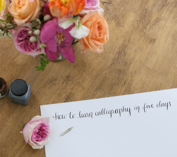 How to learn calligraphy in 5 days | everything you need to learn calligraphy including practice sheets, supply lists, & step by step techniques at julieblanner.com