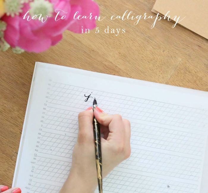How to Learn Calligraphy in 5 Days | Practice Words