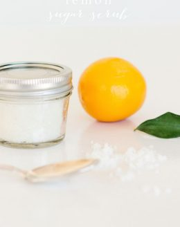 easy lemon sugar scrub recipe