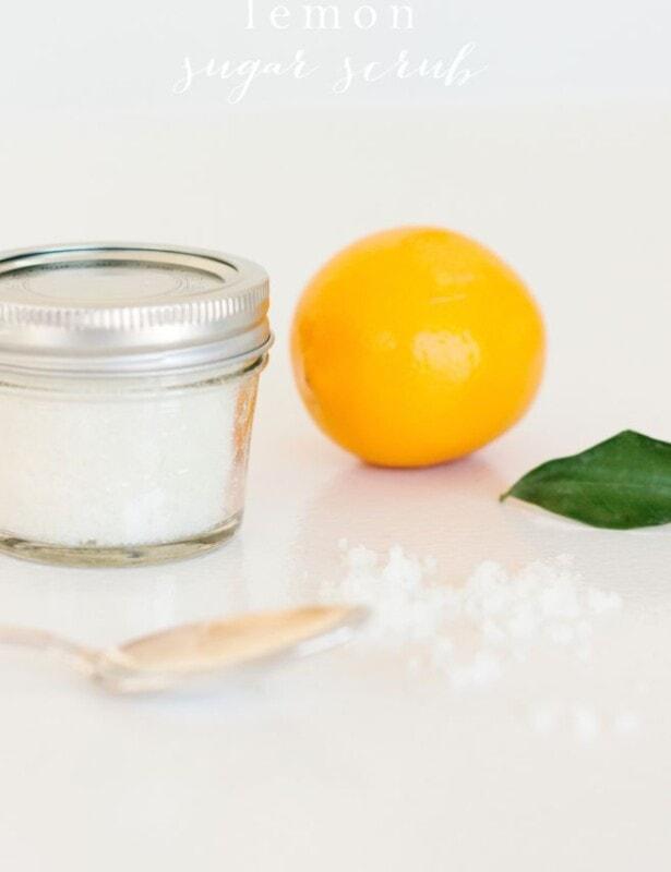 easy lemon sugar scrub recipe