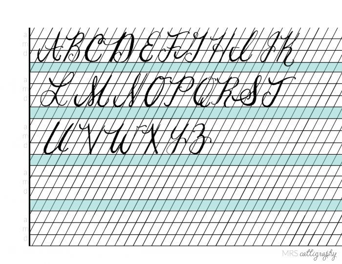 Calligraphy resources left handed