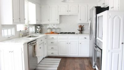 a classic white kitchen with lots of charm & innovative ideas for creating functional space