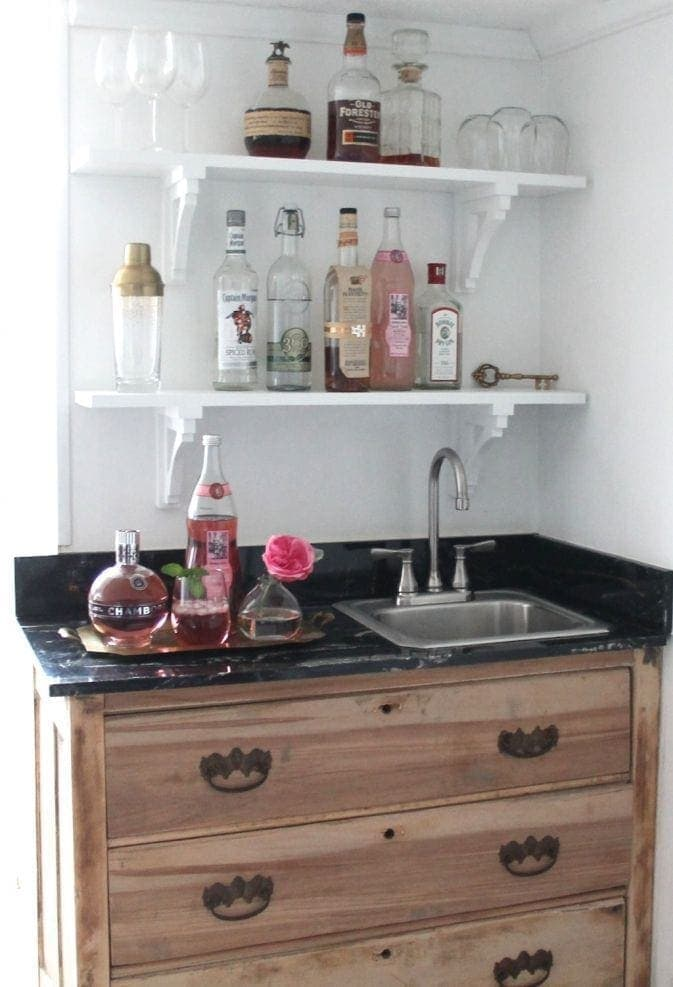 wet bar styling