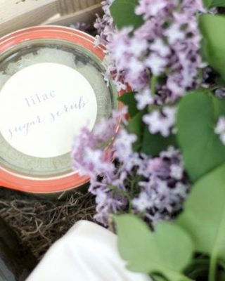 All natural bath products | lilac sugar scrub recipe
