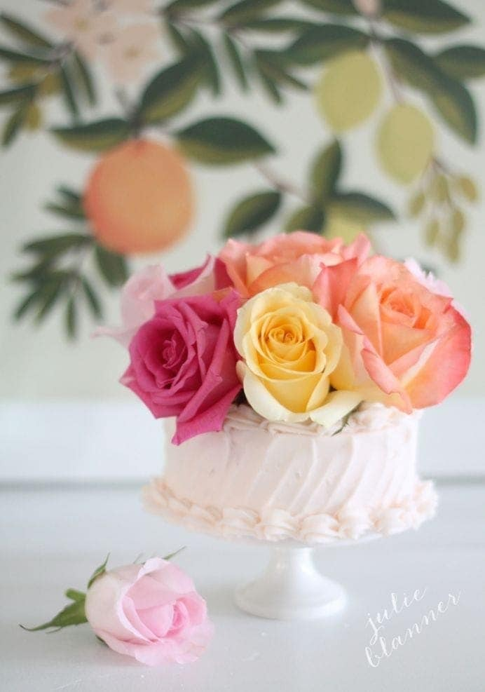 Beautiful DIY Birthday Cake Decorations Rose Cake