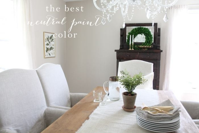 The Best Neutral Paint Color Gorgeous Dining Room Decor