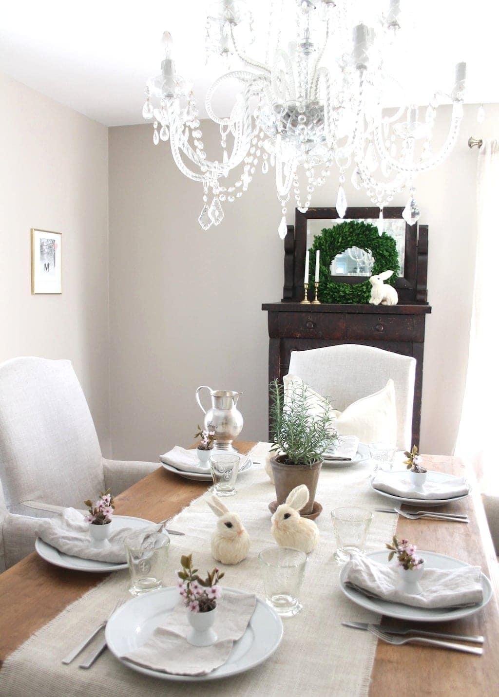 DIY Easter centerpiece & flowers