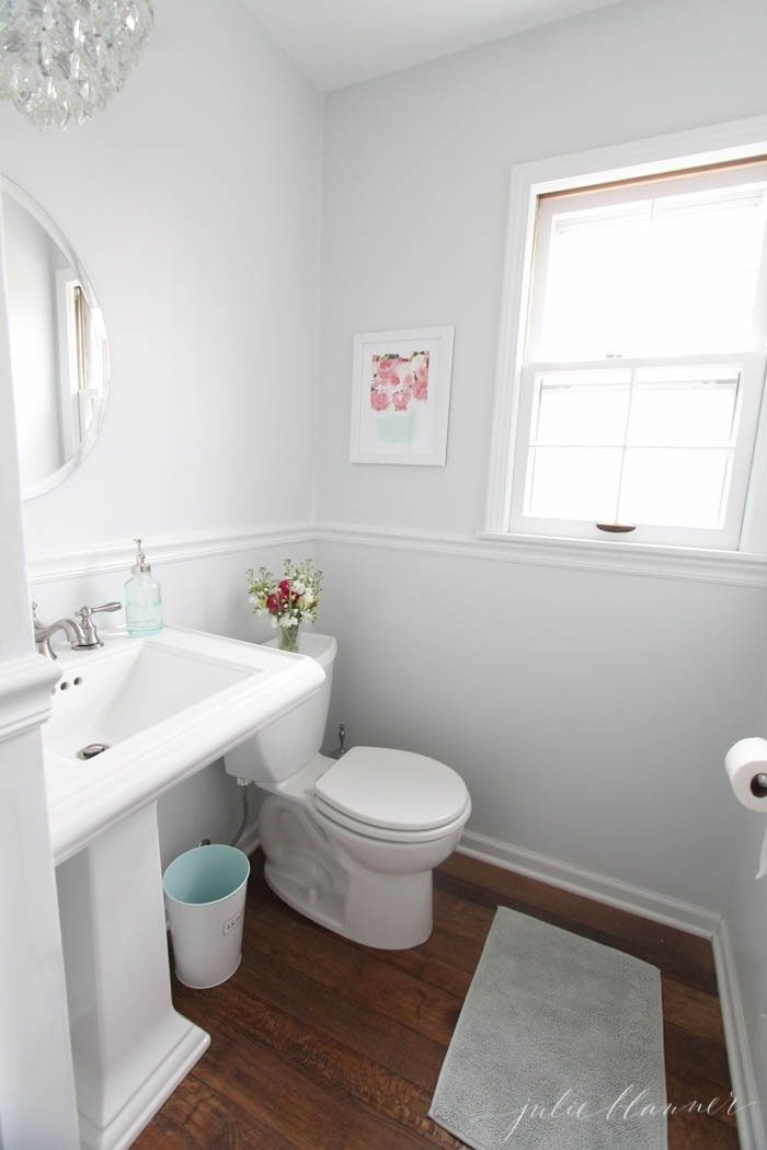 DIY half bathroom on a budget