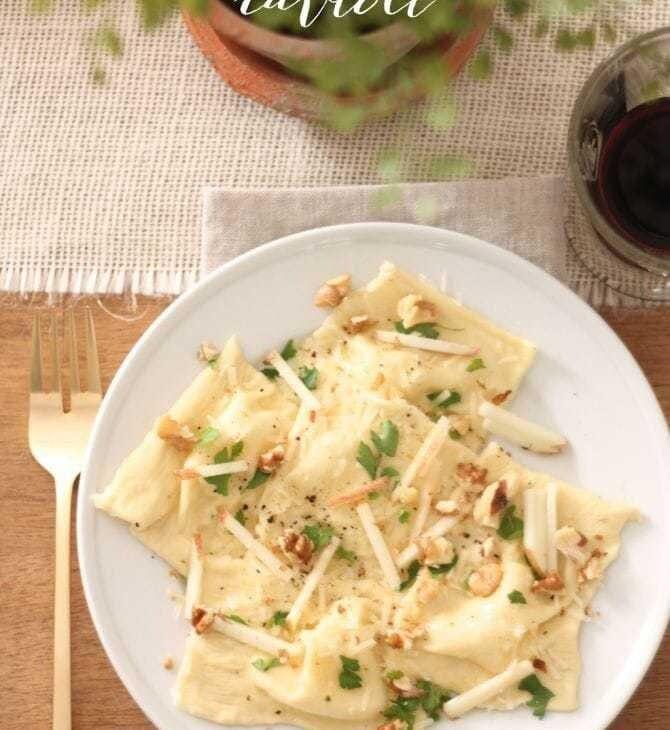 homemade skinny ravioli recipe