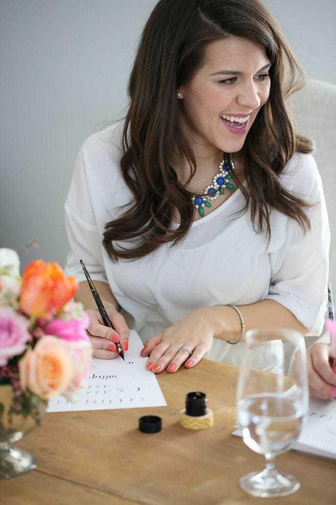 Madi Sanders wedding calligraphy