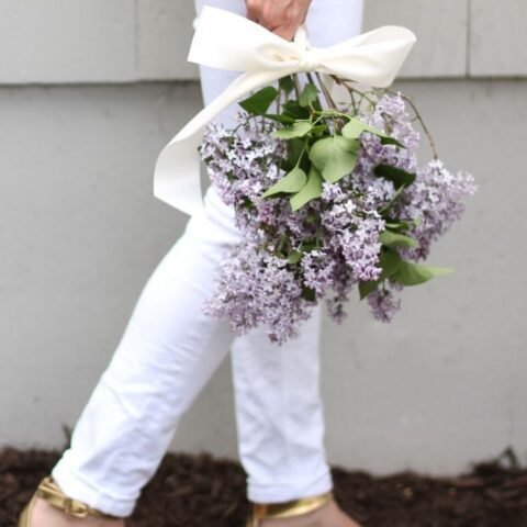 handpicked bouquet of lilacs - a thoughtful gift