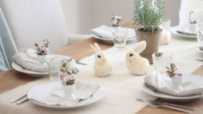 pretty Easter table setting
