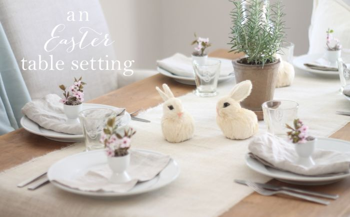 & A Simple Easter Table Setting