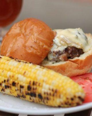 bacon & blue cheeseburgers