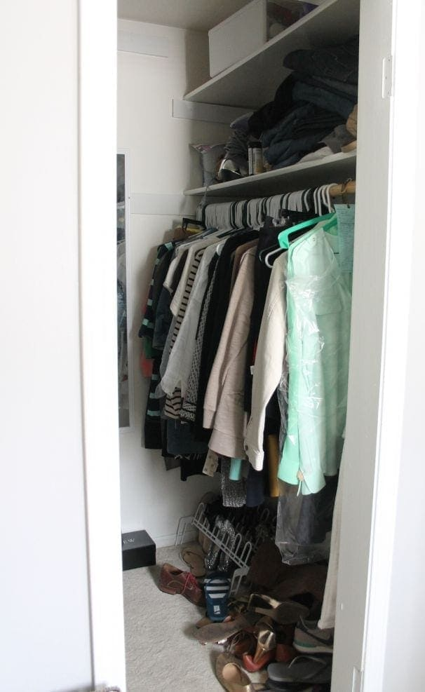 before closet makeover