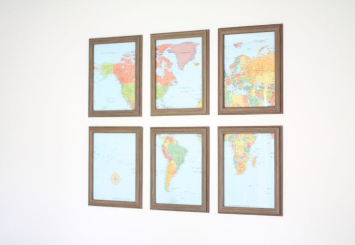DIY Map Gallery Wall