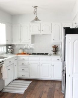 Beautiful kitchen paint color & white painted kitchen cabinets