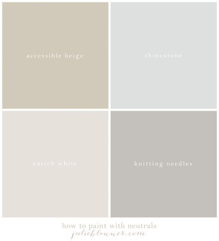 Our neutral paint palette the best neutral paint colors for Creamy neutral paint colors