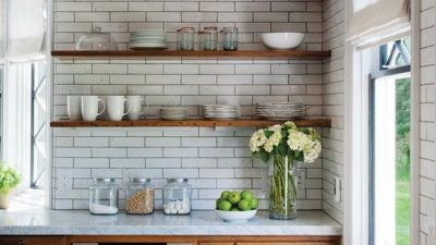 give your kitchen a new aesthetic by refinishing your kitchen cabinets