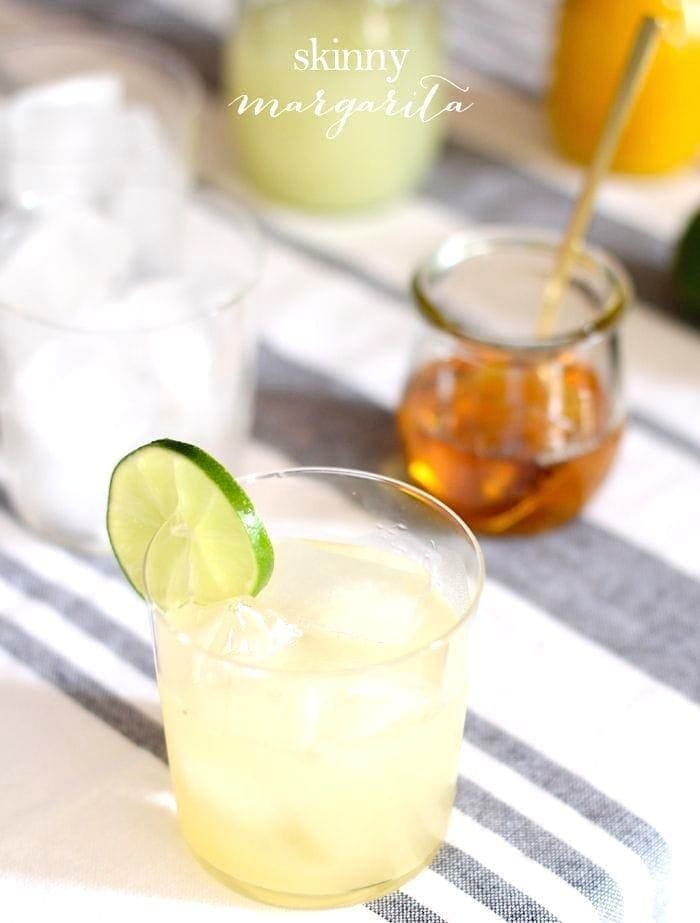 skinny margarita with agave
