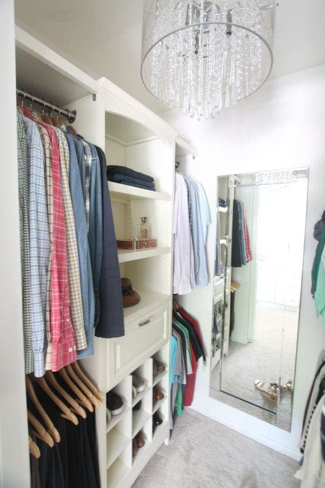 With the addition of a do-it-yourself closet system & gorgeous accessories,