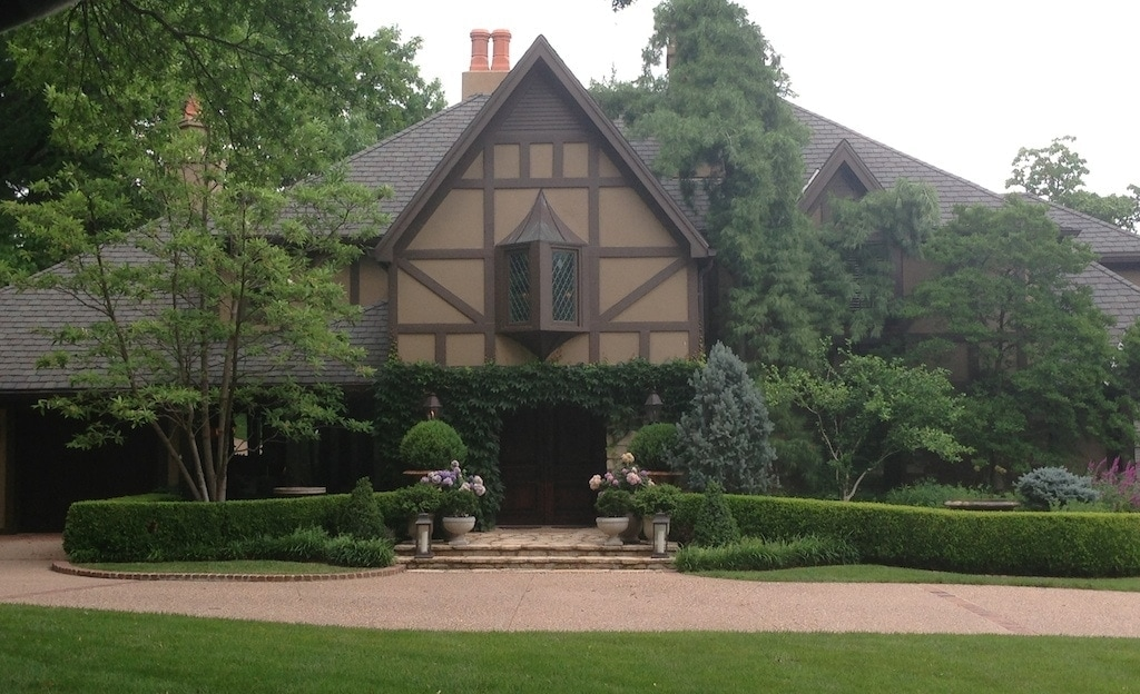 gorgeous tudor home with incredible landscaping