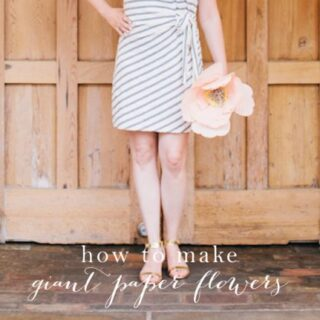 Learn how to make giant paper flowers