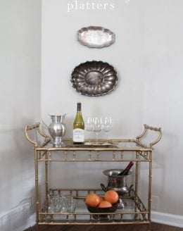 Learn how to hang platters to give your home decor warmth & interest