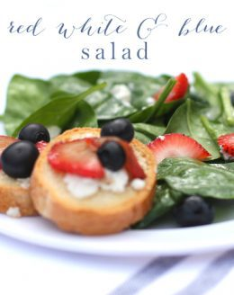 Red White & Blue Salad | 4th of July Recipes
