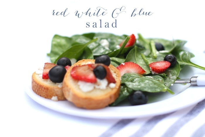 A Fresh and flavorful red, white and blue salad recipe. One of the best 4th of July salads that's ready in minutes and perfect for picnics.