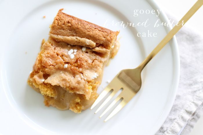 Gooey Browned Butter Cake recipe | a twist on the traditional St. Louis Gooey Butter Cake