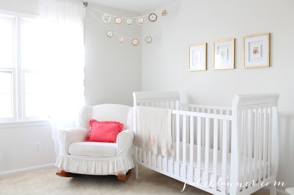Playful & pretty nursery for a baby girl