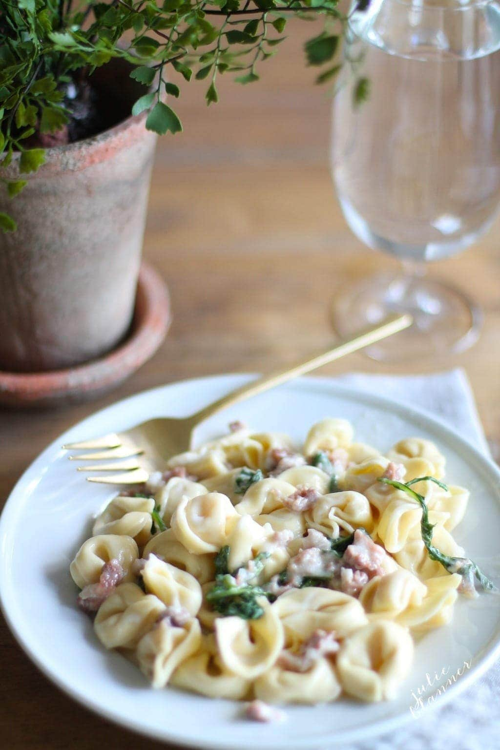 Quick, flavorful & balanced tortellacci recipe based off of Maggiano's popular dish