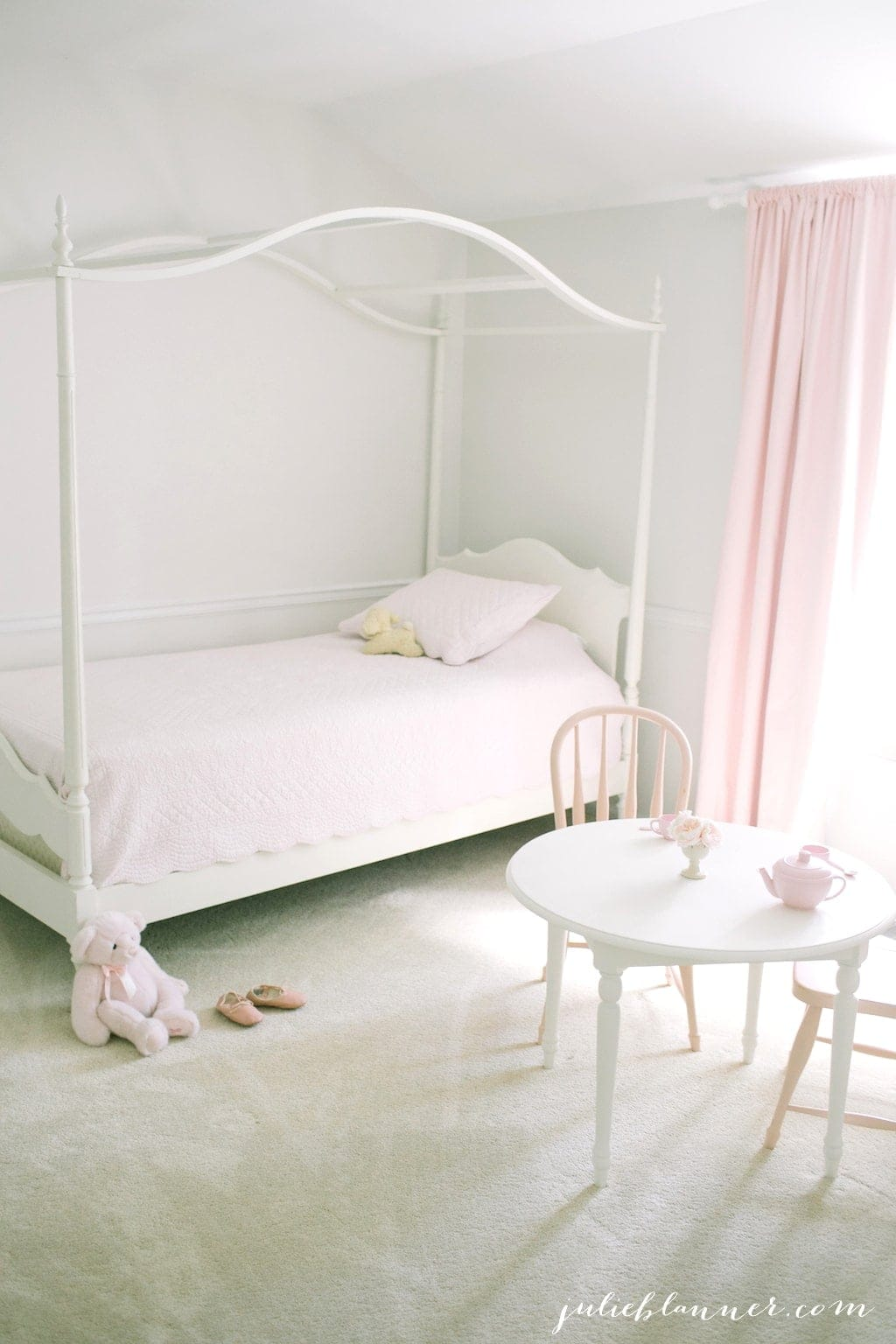 Pretty, pink & playful bedroom for a little girl
