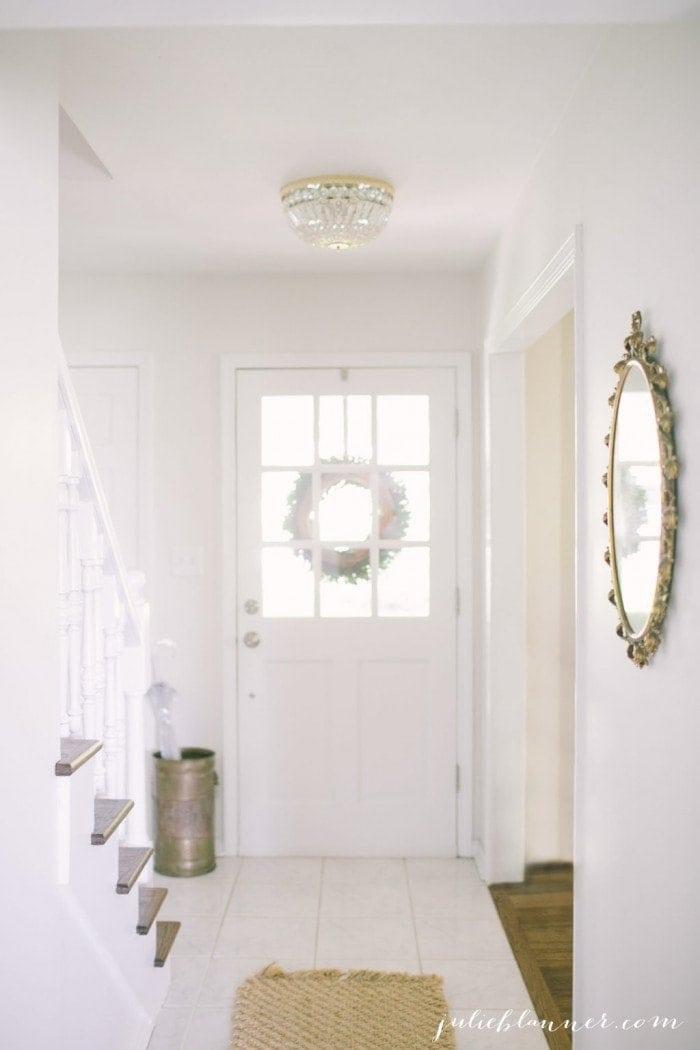 traditional entryway full of light