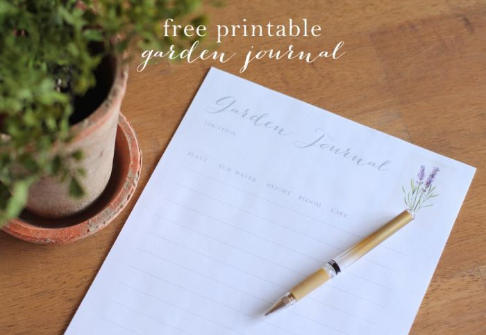 Free Printable Garden Journal Let the Gardening Begin Julie