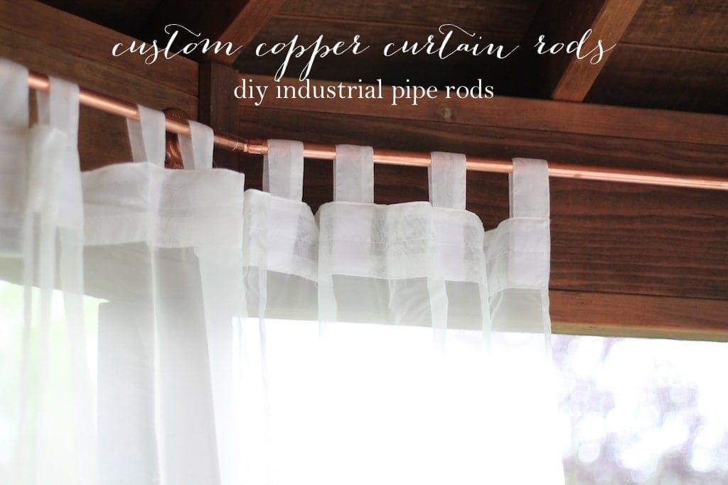 Custom Copper Curtain Poles Diy Industrial Curtain Rod