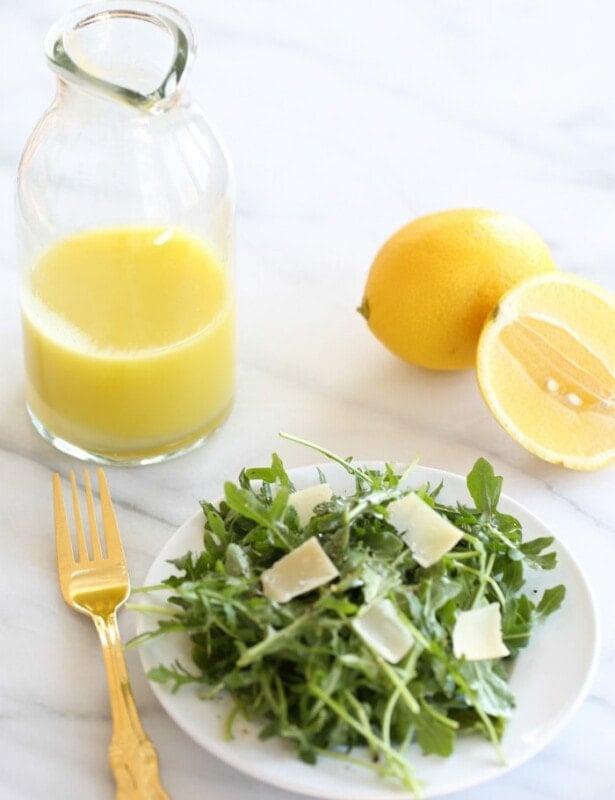 Easy arugula salad with lemon vinaigrette recipe