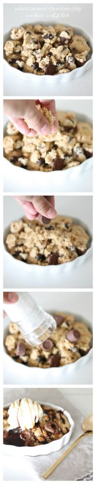 Salted Caramel Chocolate Chip Cookie Cobbler | The Ultimate Dessert Recipe a combination of gooey and crunchy, sweet and salty