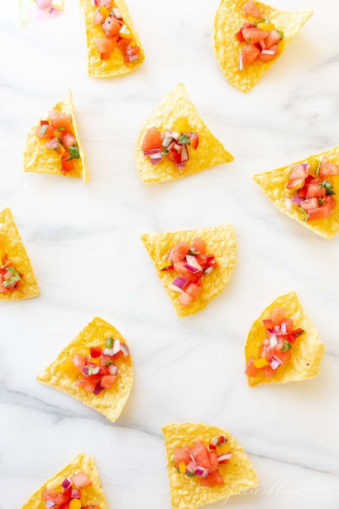 fruit salsa on chips