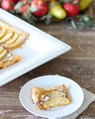 5 Minute Skinny Apple Tart recipe   fall baking