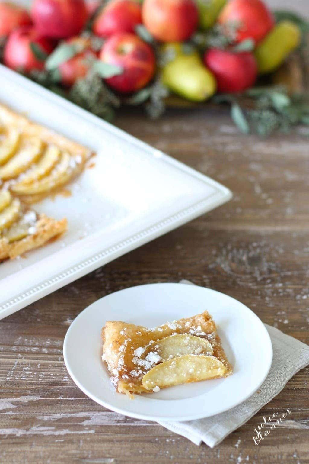 5 Minute Skinny Apple Tart recipe | fall baking
