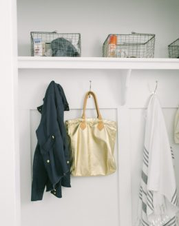 A pretty & practical mudroom